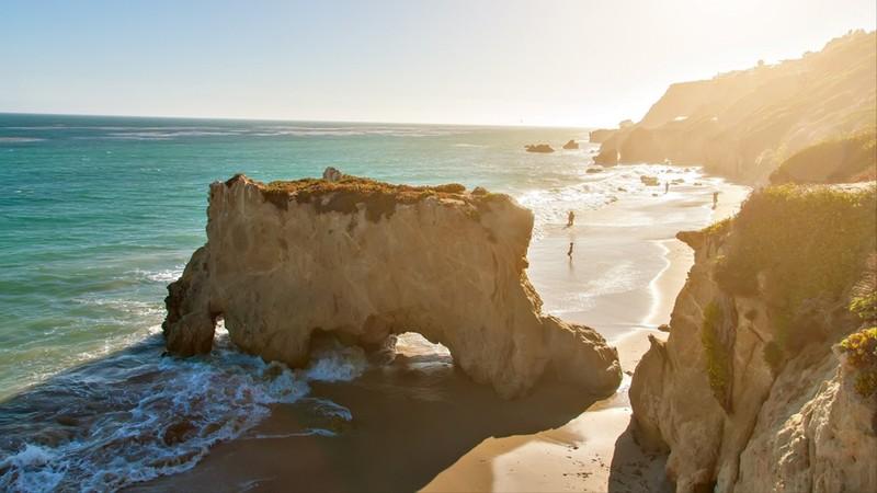 Beautiful and romantic El Matador State Beach in Malibu