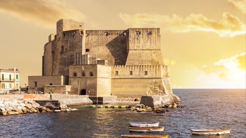 sunset in naples italy