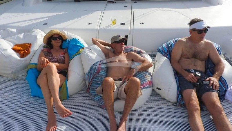 Relaxing on the foredeck