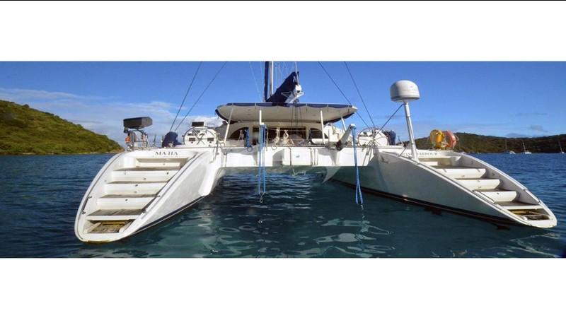 Ma Ha's stern and easy sea access - MA HA Charter Yacht