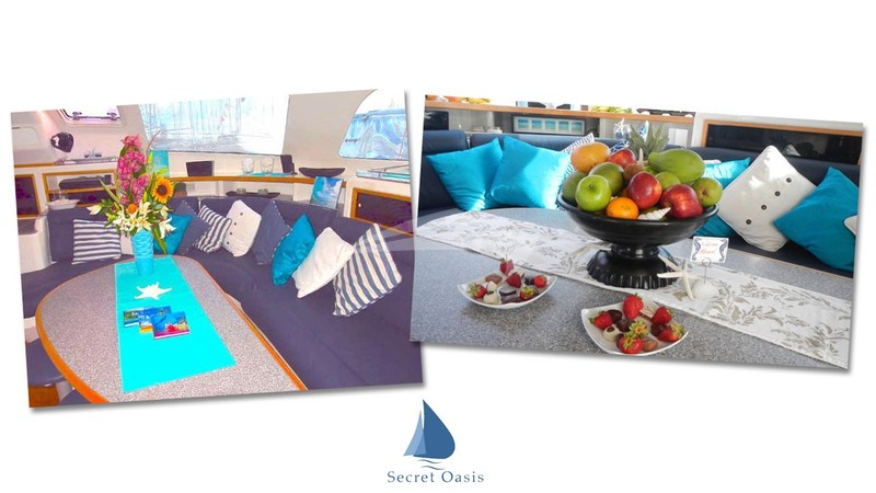 Saloon lounging area - SECRET OASIS Charter Yacht