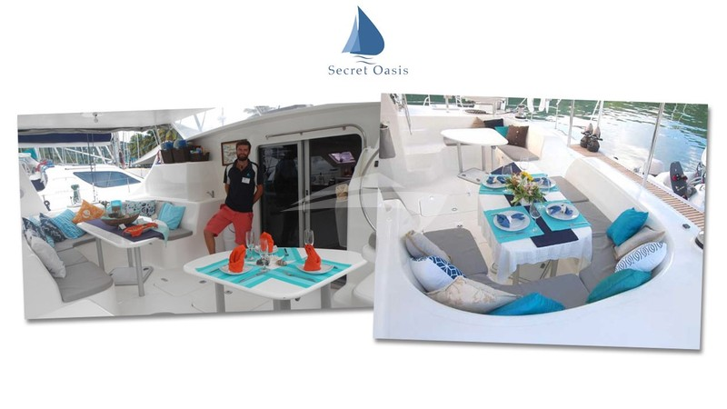 The spacious cockpit area - SECRET OASIS Yacht Charter