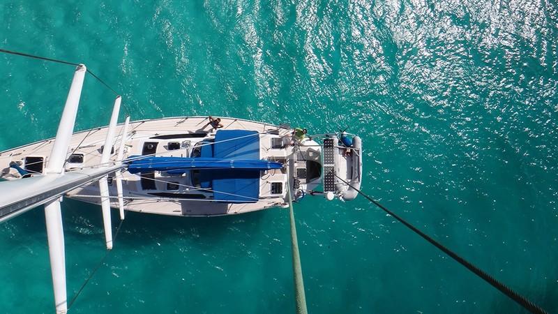SCORPIO from the heights of the masthead - SCORPIO Yacht Charter