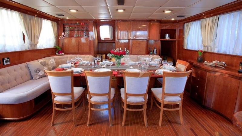 Dining - TROIA Charter Yacht