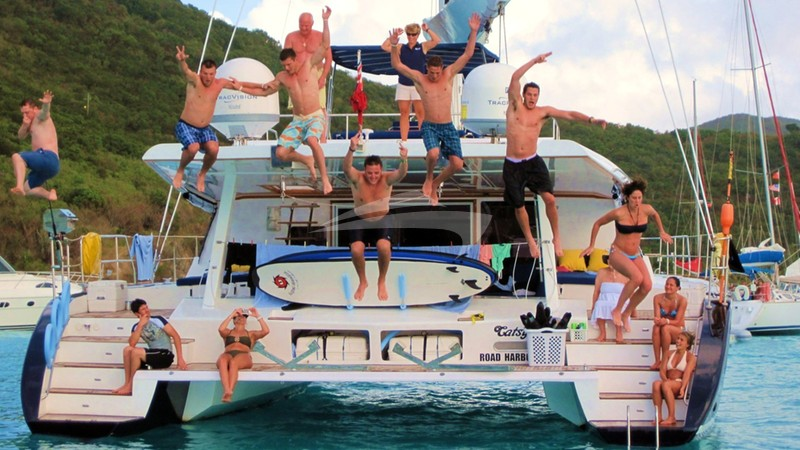 The Big Jump! - CATSY Charter Yacht