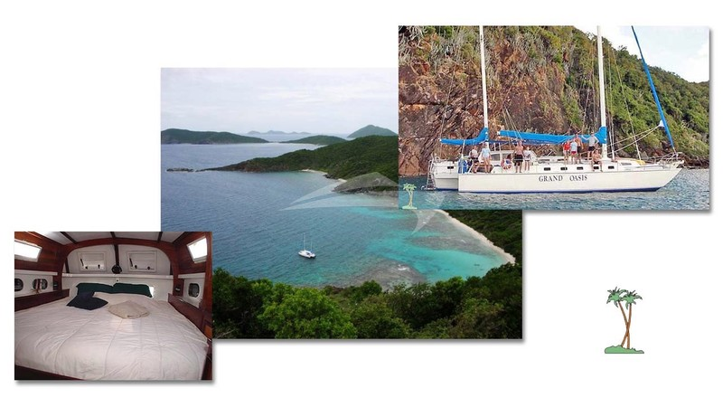 Anchored in a secluded cove - GRAND OASIS Charter Yacht