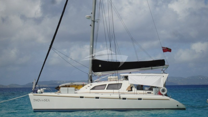 Side View - TWO IF BY SEA Yacht Charter