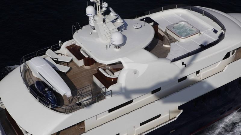 Flying deck view - SERENITY II Yacht Charter