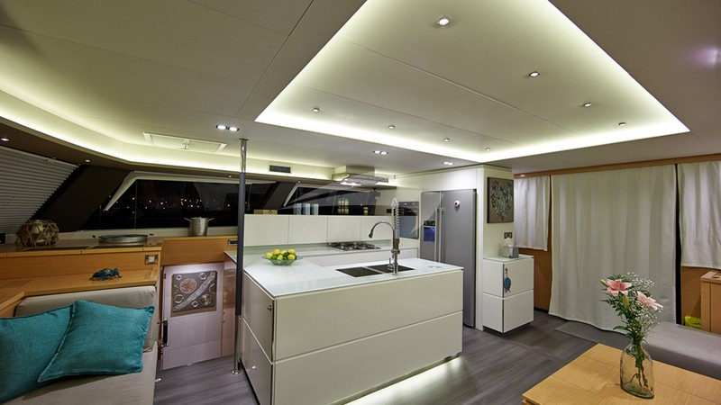 Salon & Galley - LIR Yacht Charter