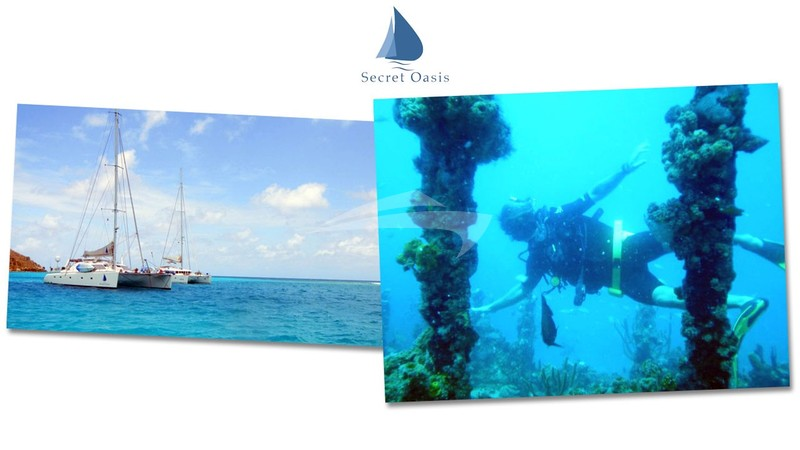 Dive from the yacht - SECRET OASIS Charter Yacht