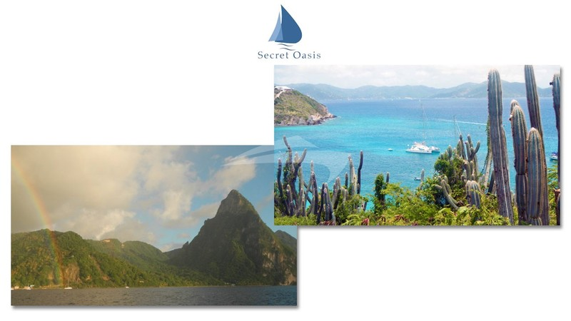 The wide variety of Caribbean scenery - SECRET OASIS Yacht Charter