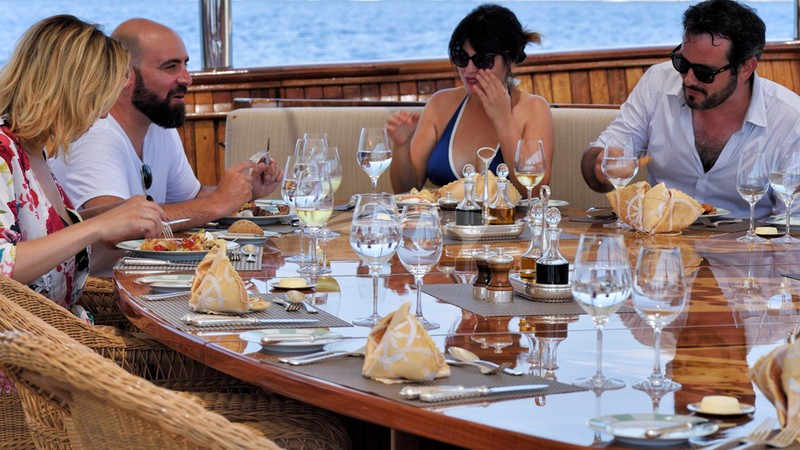 CHRISTINA O :: Aft deck table