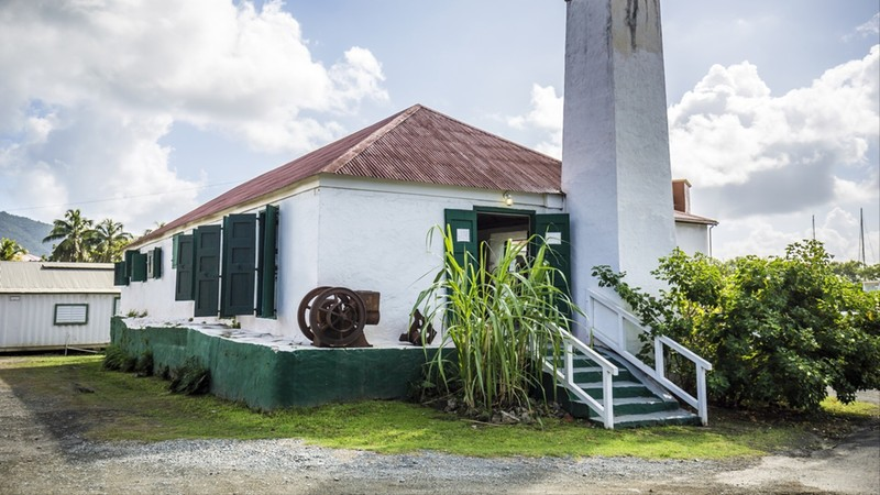 Old sugar farm building. Road Town, Tortola, British Virgin Islands