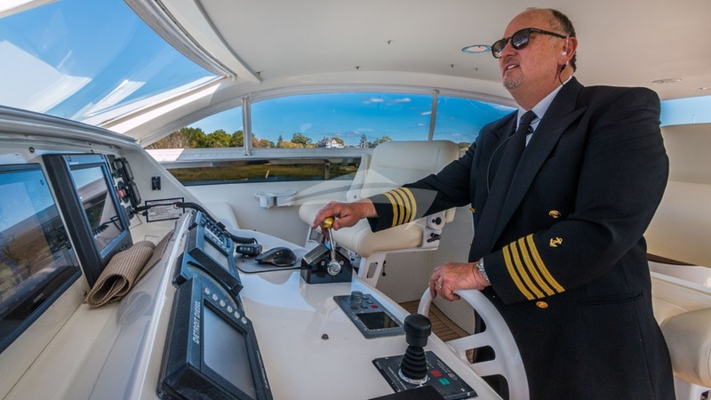 Captain at Helm