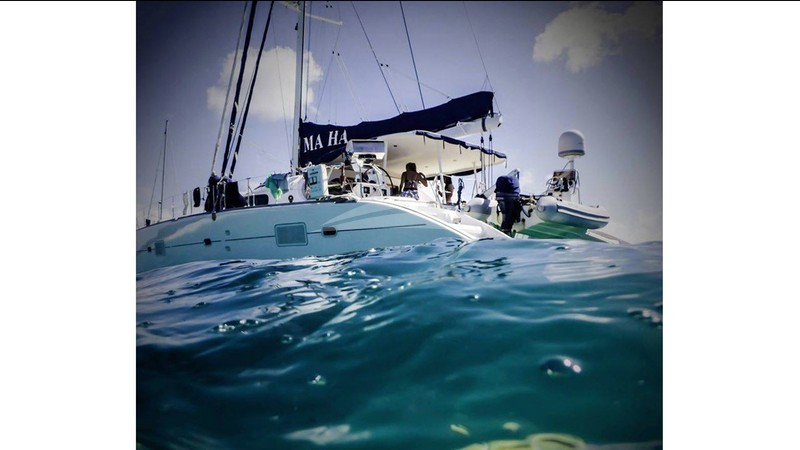 Ma Ha from sea level - MA HA Charter Yacht