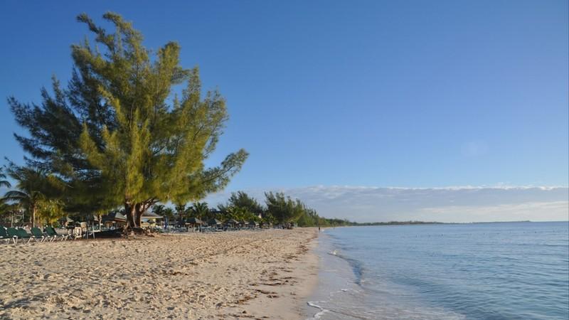 Perfect golden rock beach, grand bahama island, bahamas