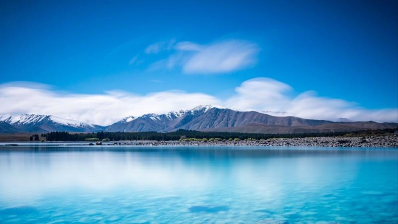 View of Lake Tekapo from Mount John