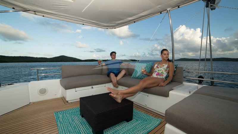 AZULIA 2 :: Teh Flybridge - The top deck with the fabulous vie
