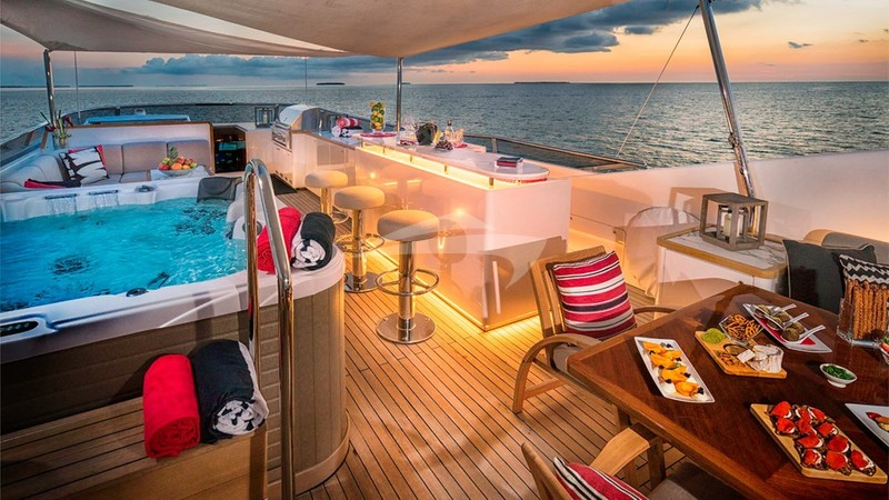 Sun Deck Aft Looking Forward