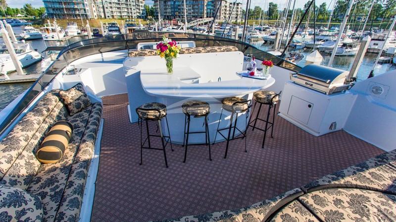 Sun Deck, with bar, BBQ, lounge, jacuzzi hot tub