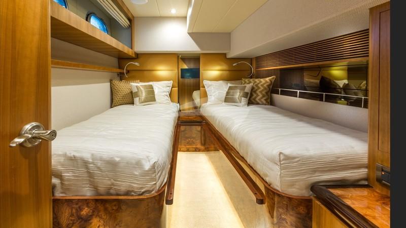 The Twin Guest Suite can convert to a King berth
