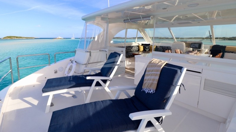 Loungers on the aft sun deck