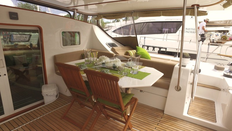 Cockpit & Alfresco Dining Area - AD ASTRA Charter Yacht