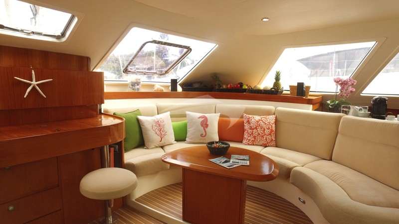 The Saloon Lounging Area - AD ASTRA Charter Yacht