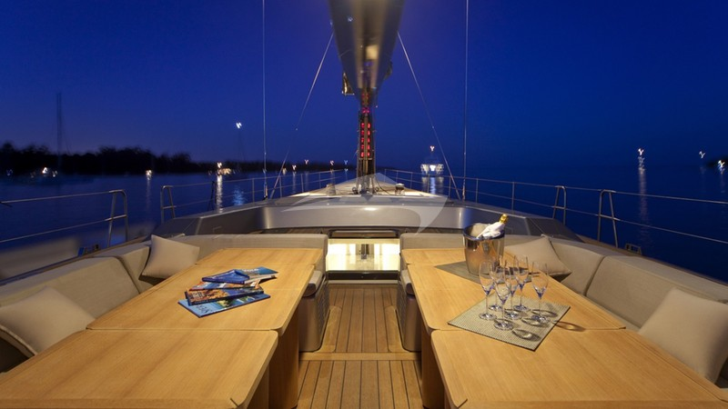 Deck Seating at Night