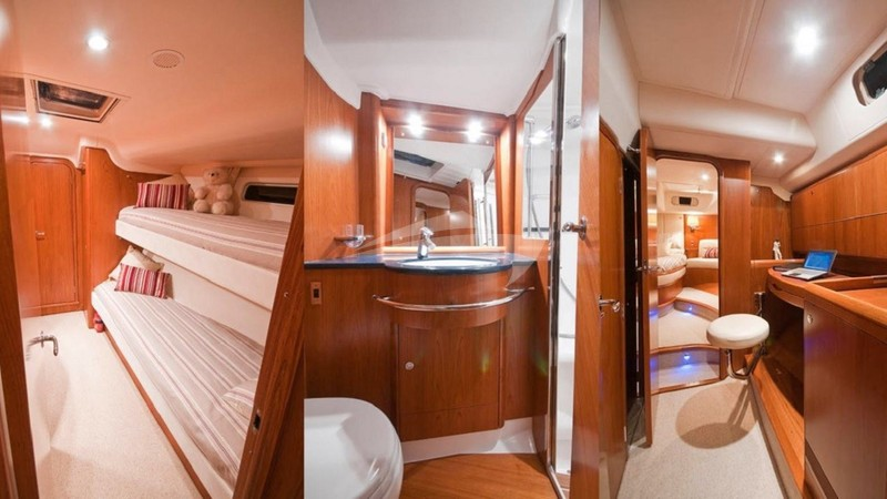 Starboard Forward Cabin and Bathroom
