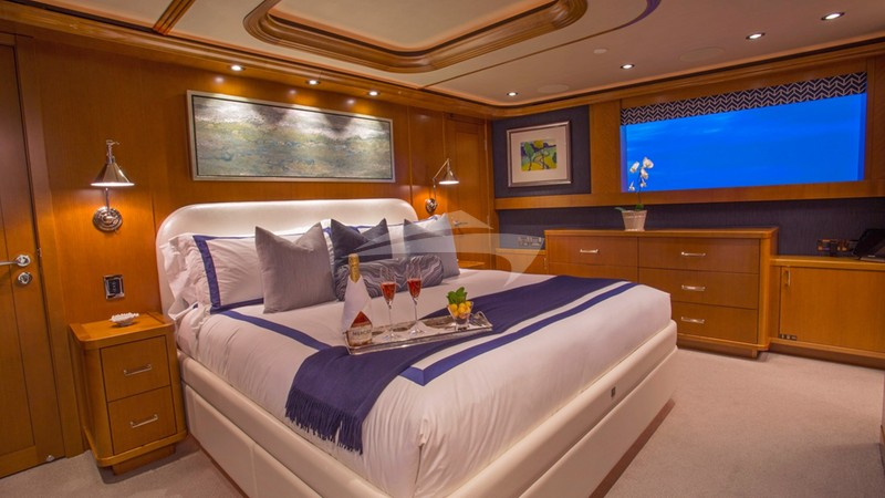 Master King Stateroom on deck forward