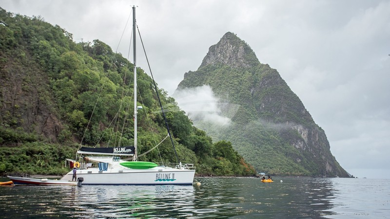 BELLINE II :: Belline 2 anchored off the Pitons, St. Lucia