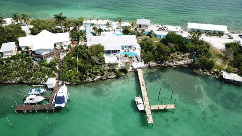 Yacht's home dock in the Abacos, Bahamas