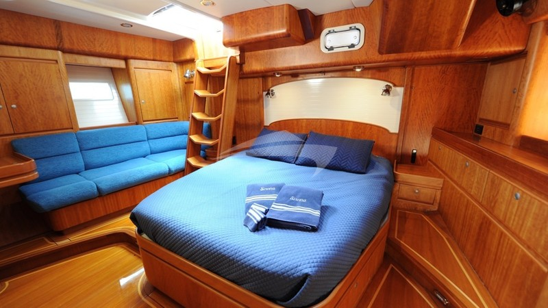 Master cabin has a King Bed has a good size settee