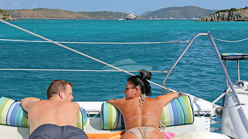 Relax and Enjoy - Lounging on the bow of Belline 2
