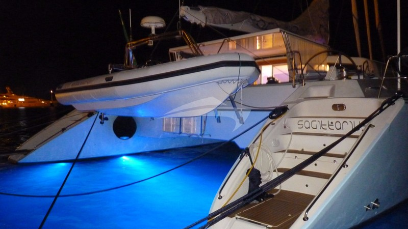 Aft view with night lights